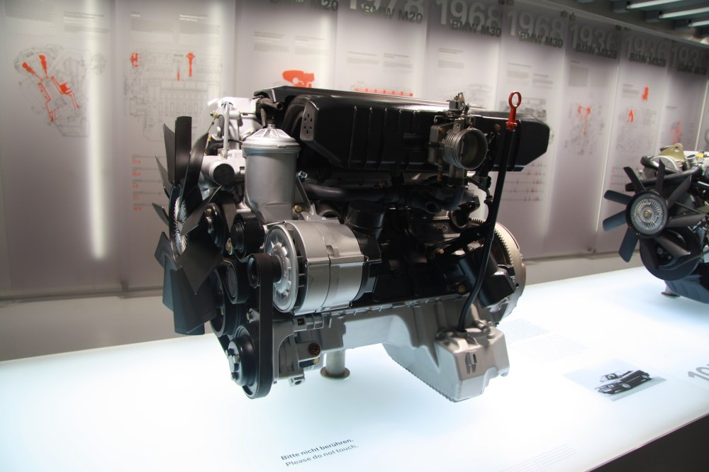 medium resolution of m50 engine in bmw museum