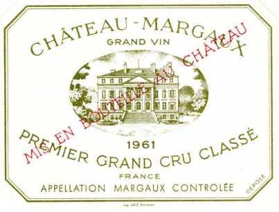 Le Château Margaux, vignoble le plus haut de sa classe.