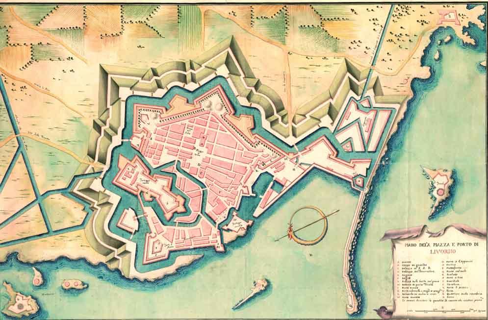 Livorno map 17th Century