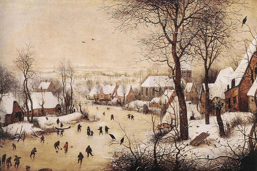 Paesaggio invernale con pattinatori e trappola per uccelli  Wikipedia