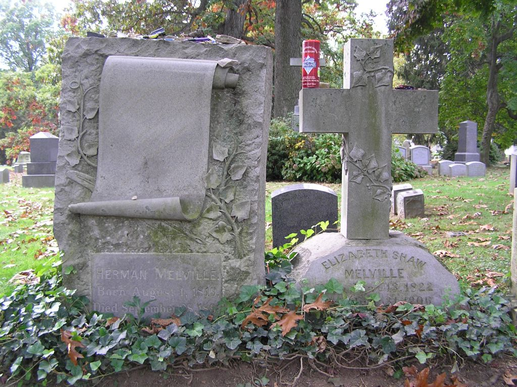 Wade Shepard, The grave of Herman Melville in Woodlawn Cemetery, Bronx, NY, October 2008, Wikimedia Commons