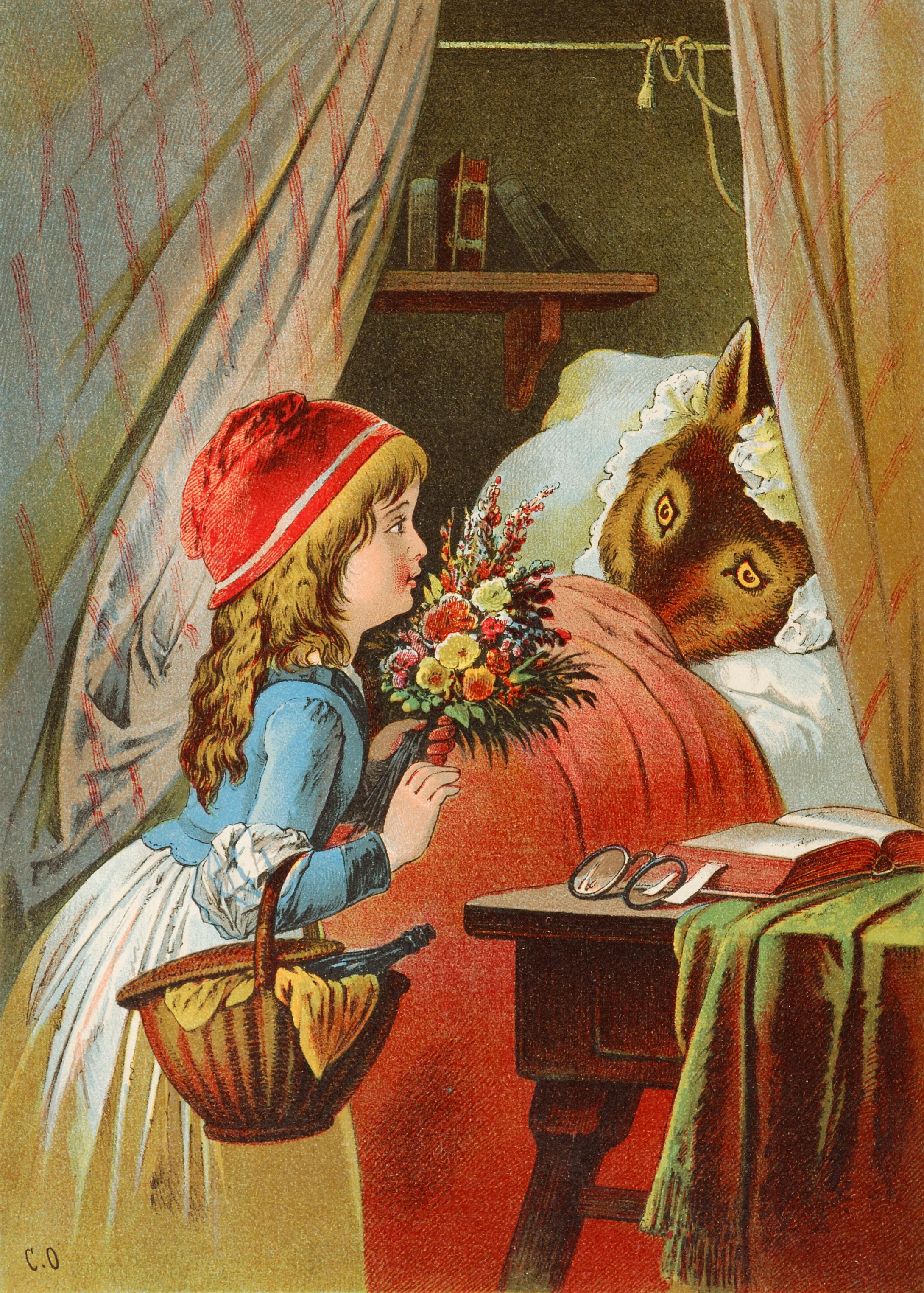 English: Little Red Riding Hood, illustration ...
