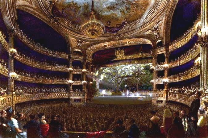 The Opera de Paris building in 1864.