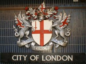 Coat of arms of the City of London as shown on...