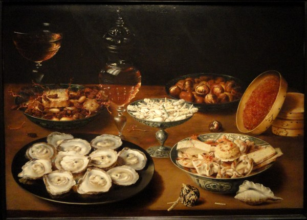 File Dishes With Oysters Fruit And Wine Osias Beert