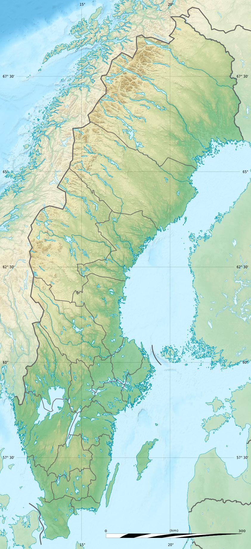 Schweden Bergen Karte