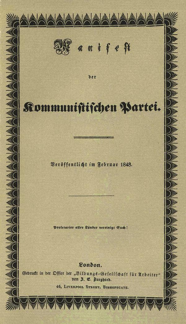 Facsimile van Communistisch Manifest