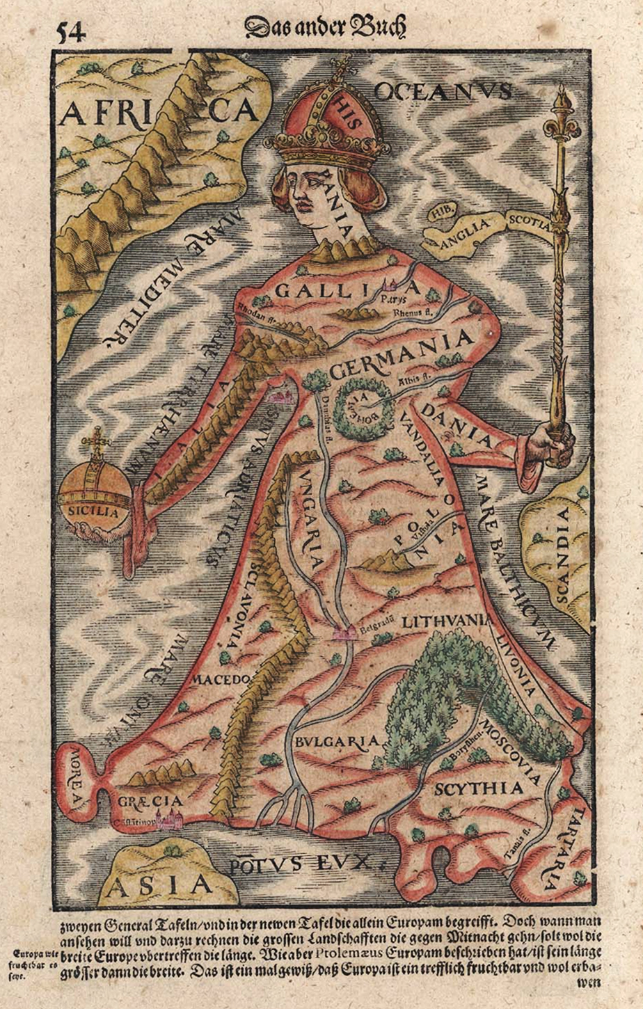 Europa regina, associated with a Habsburg-dominated Europe under Charles V.