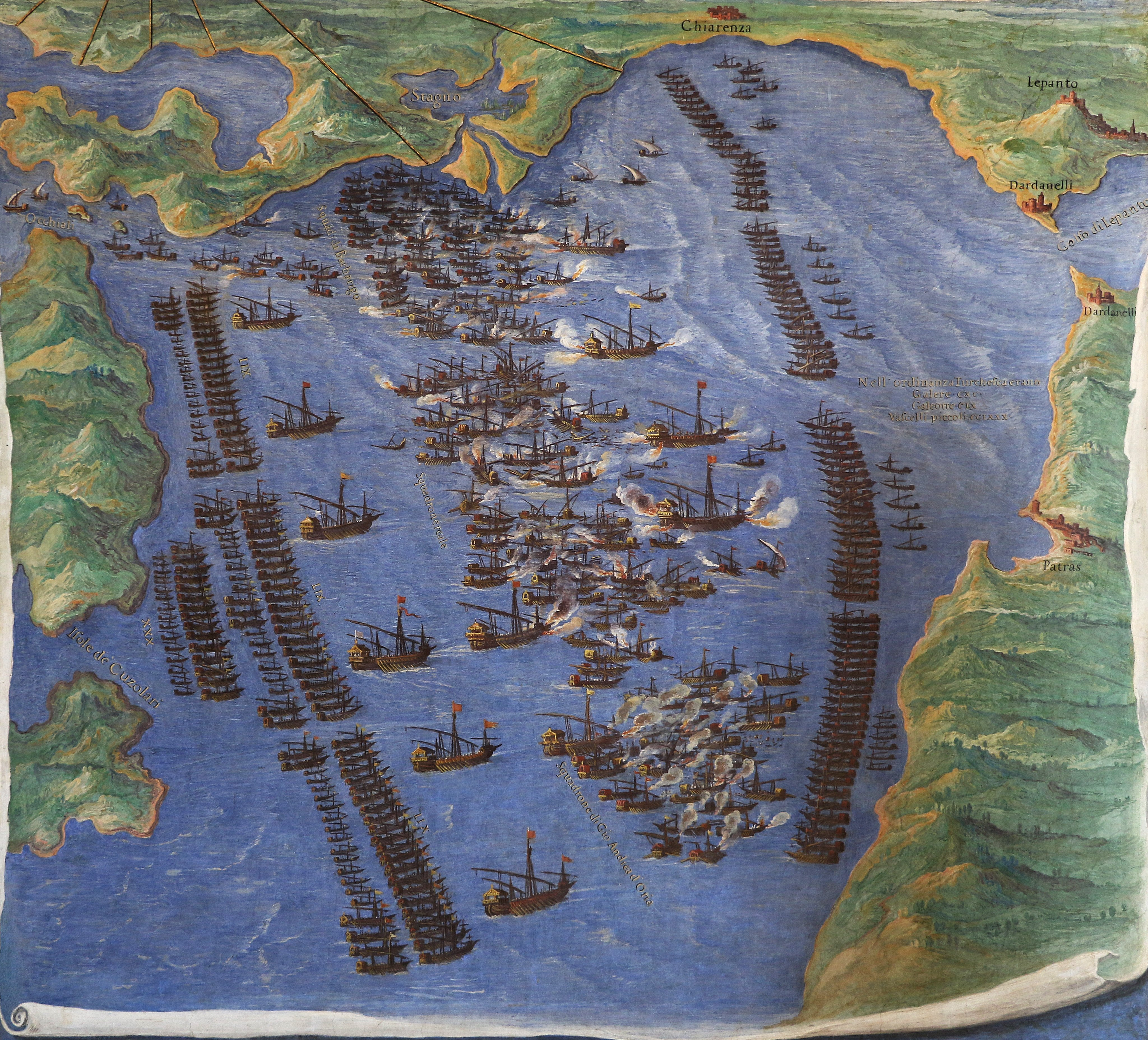 View of the Battle of Lepanto, from Wikipedia