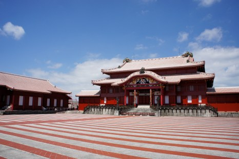 Red castle in Okinawa