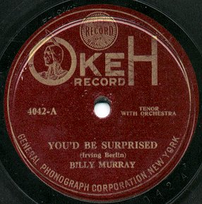 A lateral recording of Billy Murray, from 1919