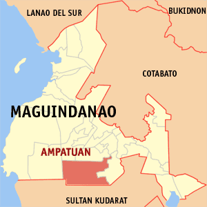 Location of Ampatuan, the location where the m...
