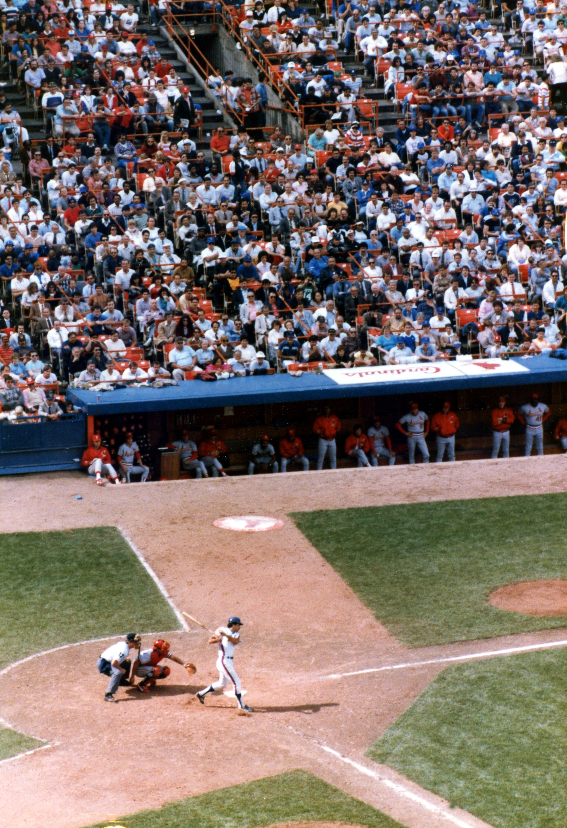 A baseball game at Shea Stadium