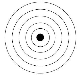 File:Blank atom , nucleus with electron shells.png