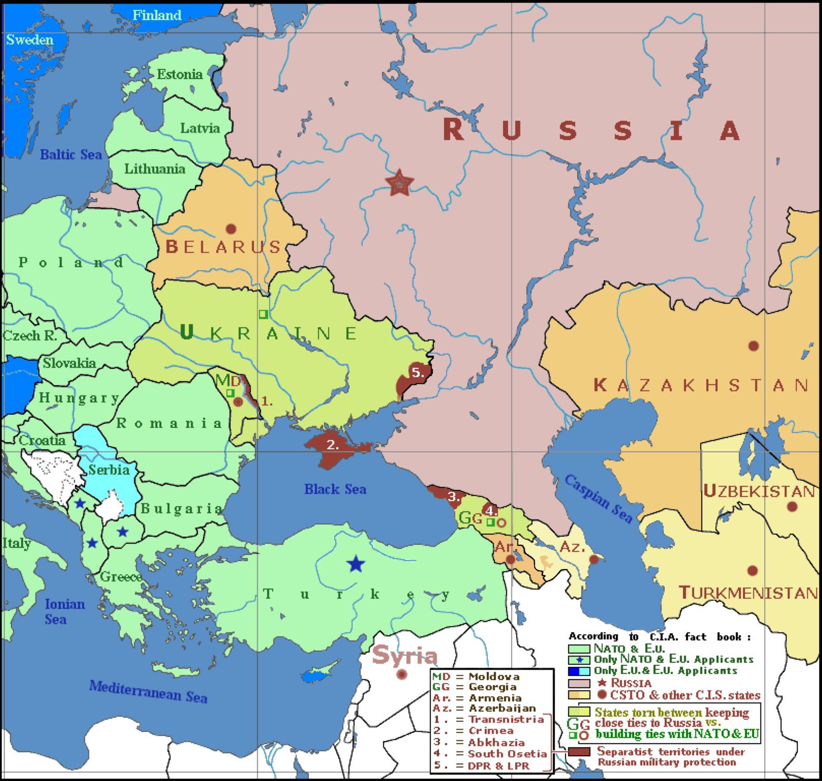 Ukrainian Political Map