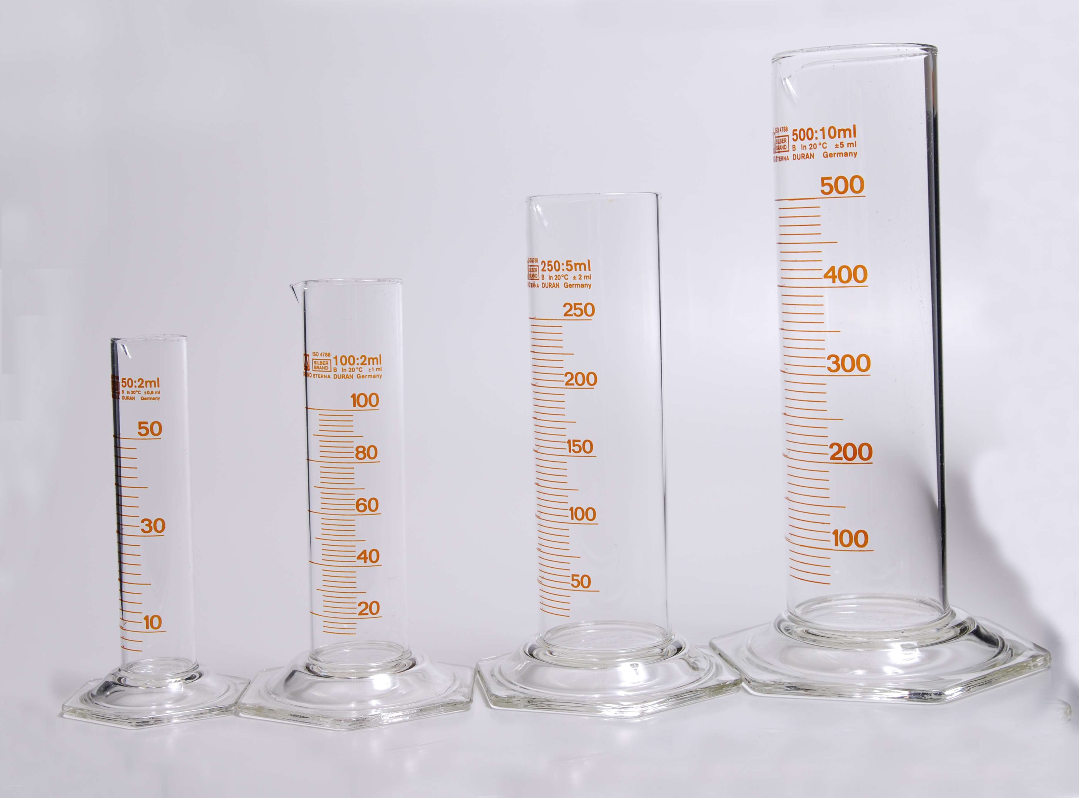 File Glass Graduated Cylinders Set