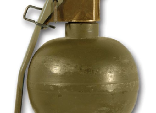 Grenade M67 américaine (Image Wikipedia).