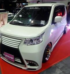 file osaka auto messe 2016 131 suzuki wagon r stingray x mh34s with spec s style parts jpg [ 2514 x 1858 Pixel ]