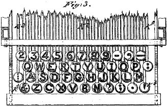 Latham Sholes' 1878 QWERTY keyboard layout (cc) Wikipedia