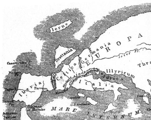 Europa na mapie Strabona (63 r. p.n.e. - 24 r. n.e.)