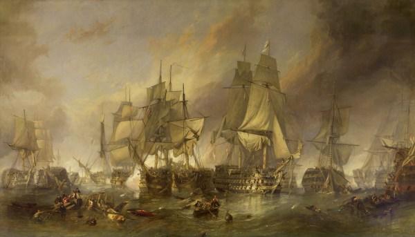 Clarkson Stanfield Battle of Trafalgar