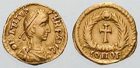 Avitus tremissis, one-third of a solidus, ca. 456.