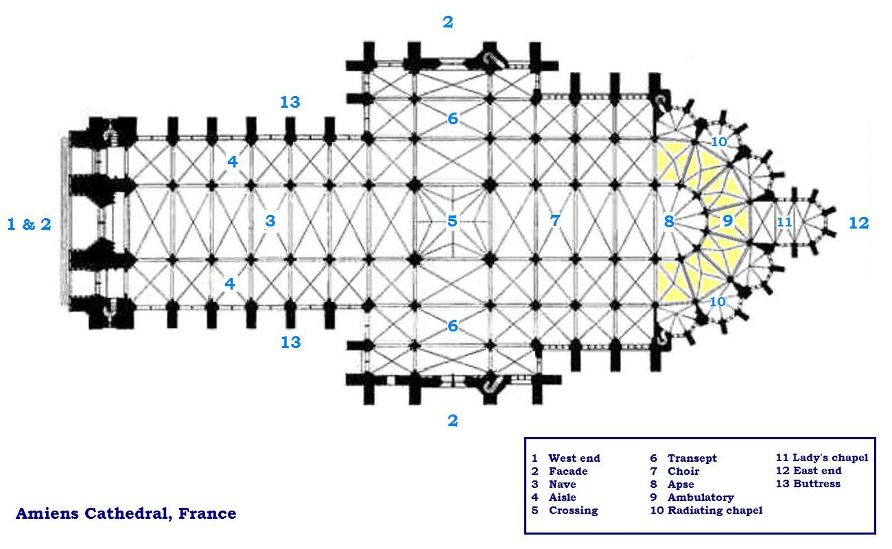 hight resolution of cathedral floorplan