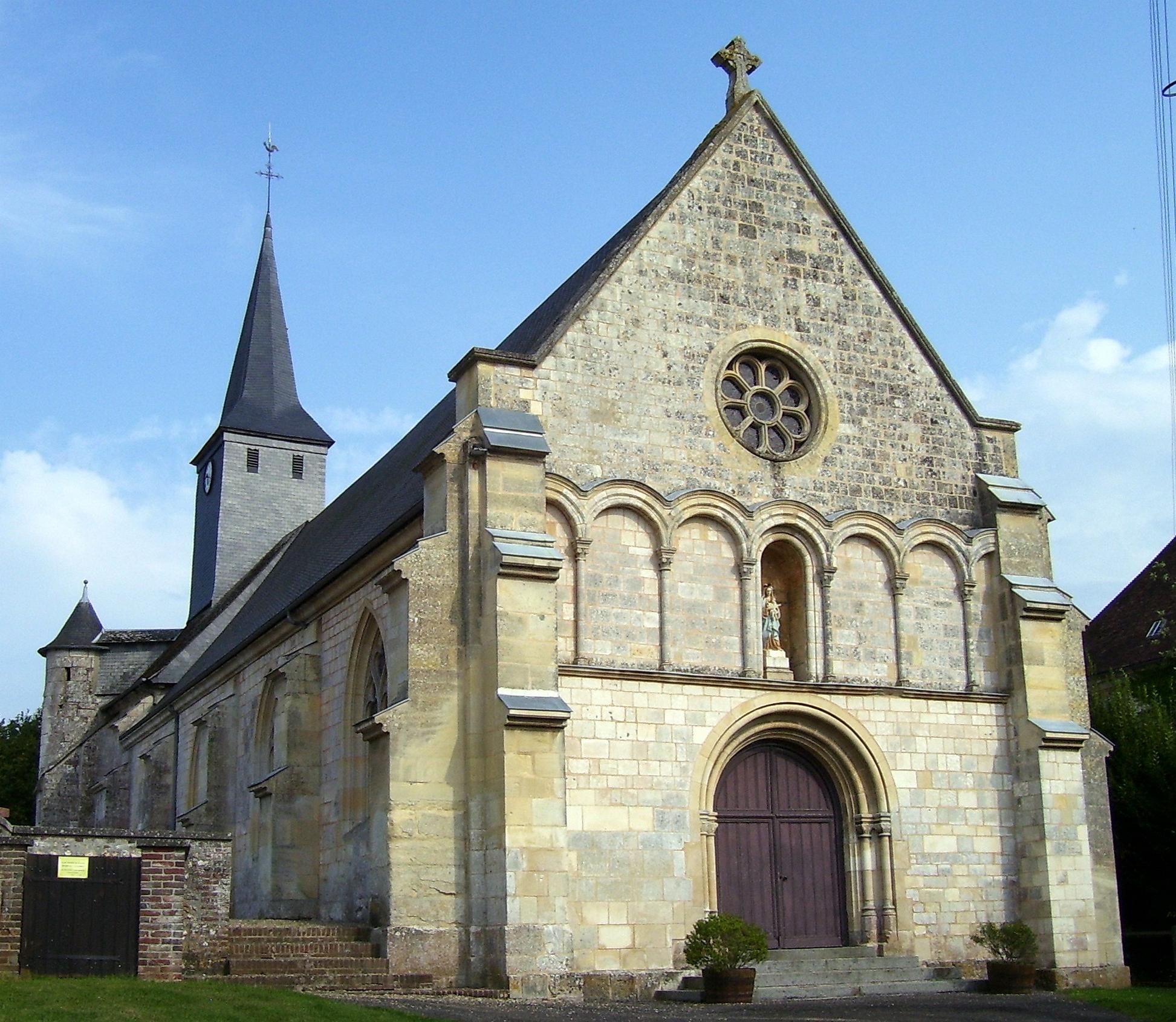 Eingang der Kirche, eigenes Foto (auf commons), Lizenz:public domain/gemeinfrei