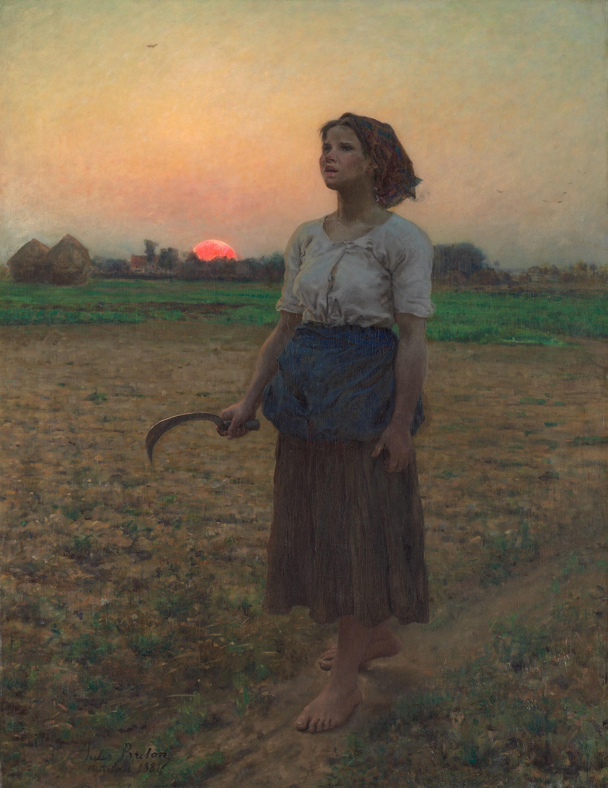 Au Chant De L Alouette : chant, alouette, File:Jules, Breton,, Chant, L'alouette.1884.jpg, Wikimedia, Commons