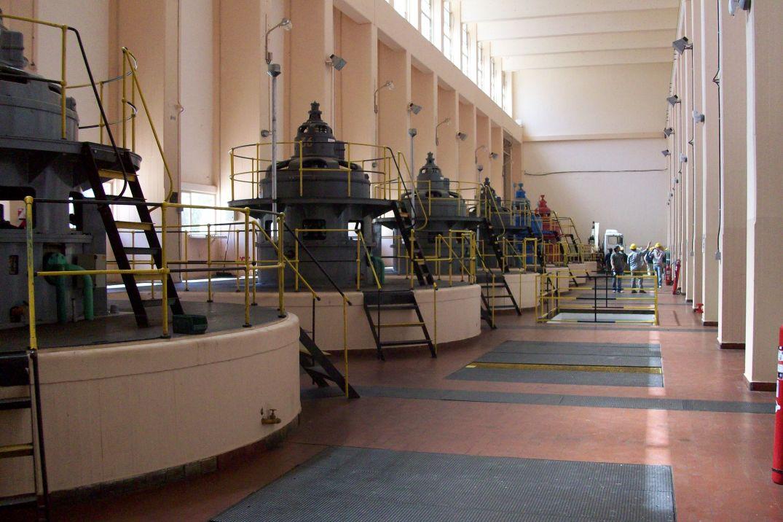 Sala de Turbinas da Usina Hidrelétrica