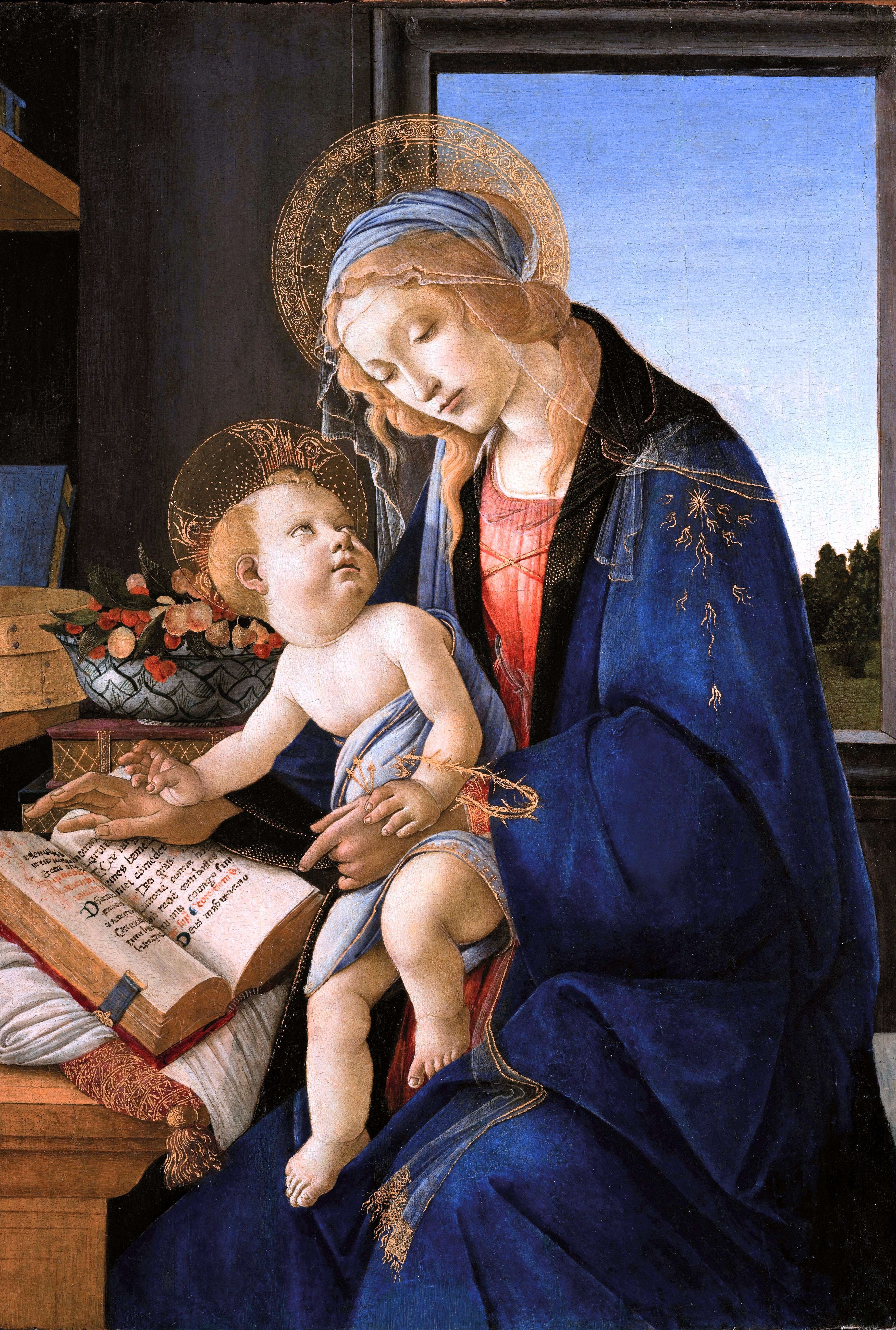 Madonna del libro, de Botticelli