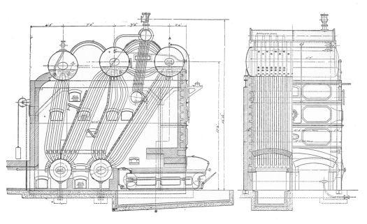 Five Drum Stirling Boiler