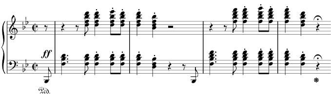L'incipit della Sonata n.29