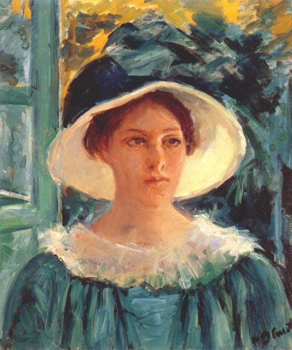 File Cassatt Mary Young Woman In Green Outdoors Sun - Wikipedia