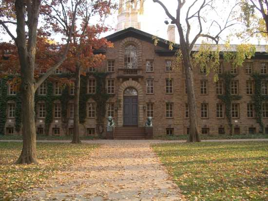 Nassau Hall, the university's oldest building....