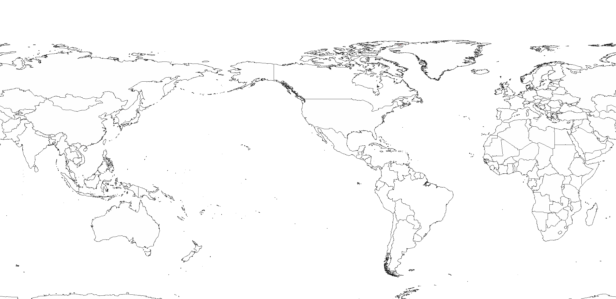 File White World Map Americas Centered Blank