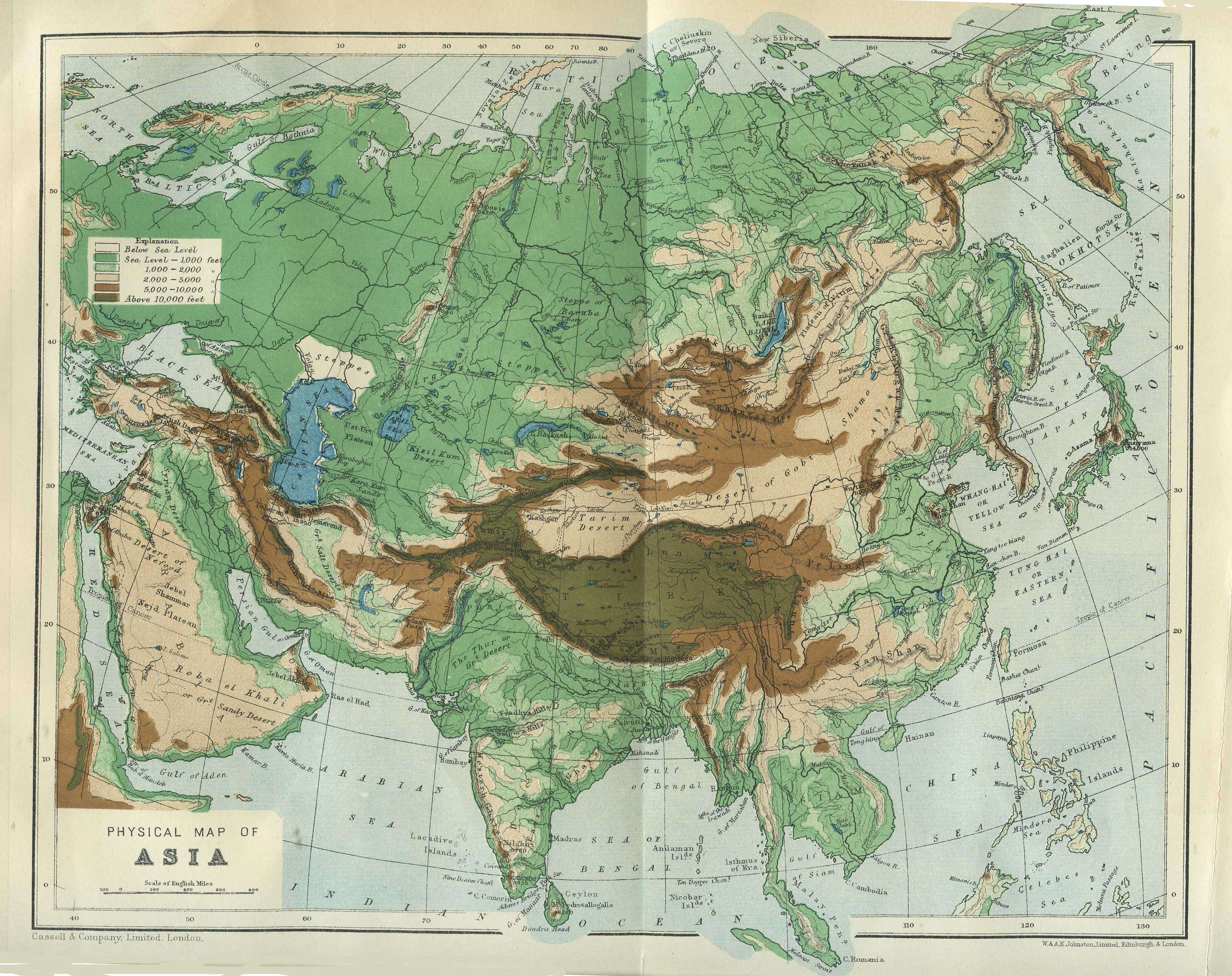 File A Physical Map Of Asia From Cassel S Encyclopedia