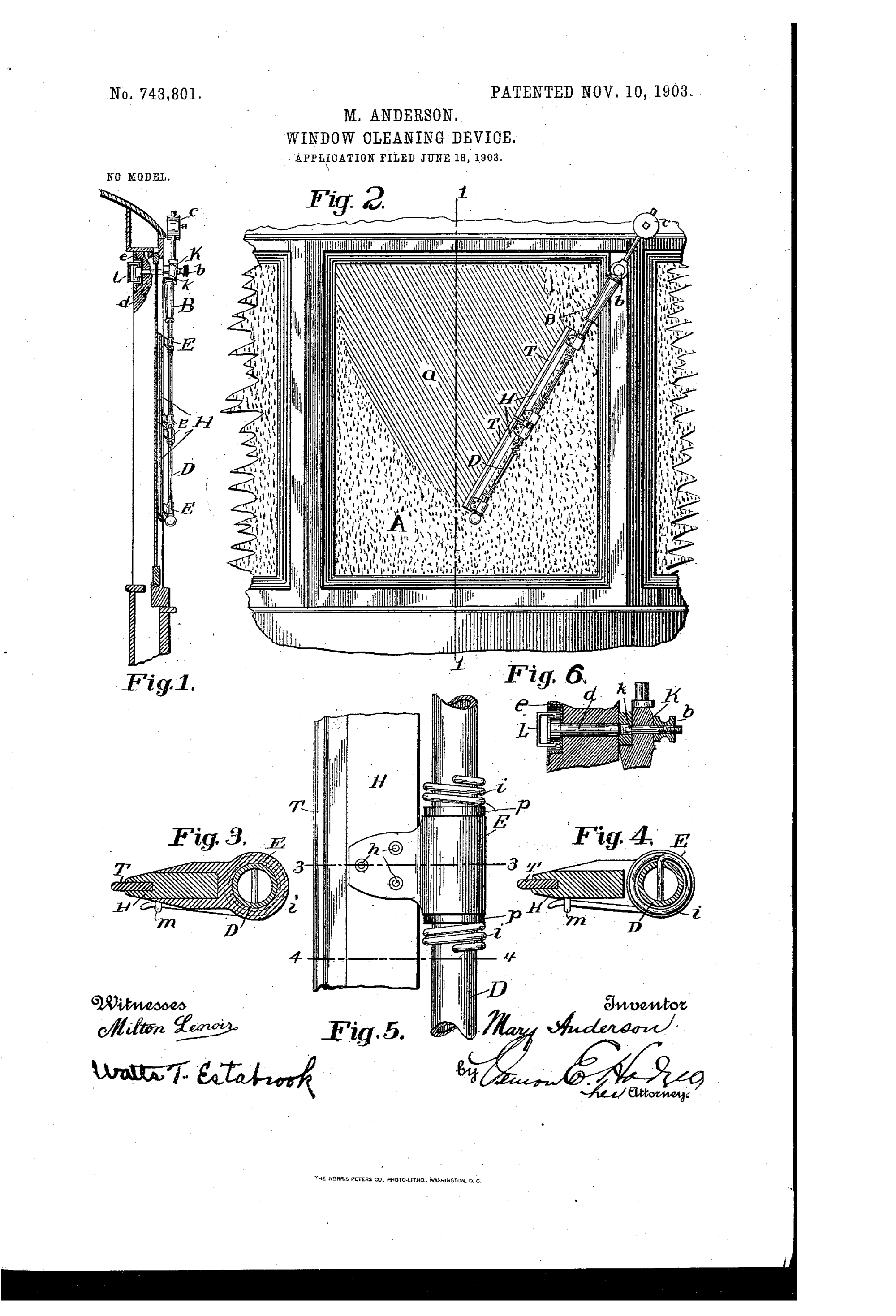 hight resolution of anderson s 1903 window cleaner design