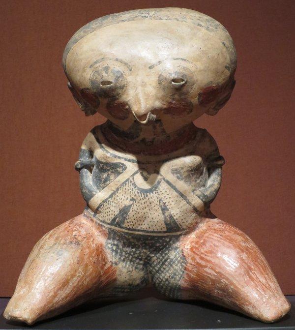 File Chinesco Seated Female Figure Nayarit Mexico