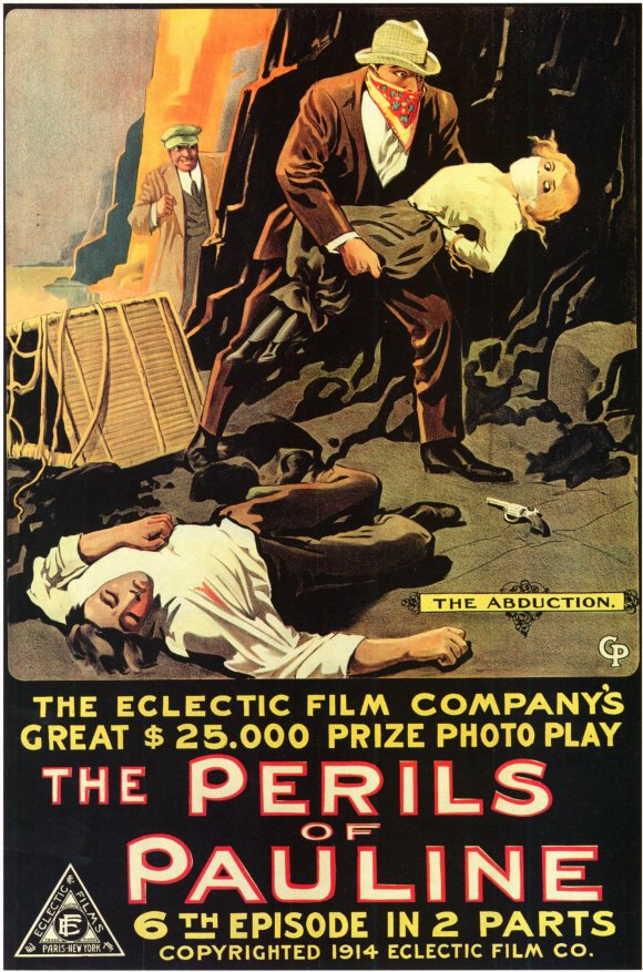 English: Poster for The Perils of Pauline (1914)