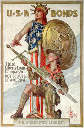 Weapons of Liberty by Joseph Christian Leyendecker