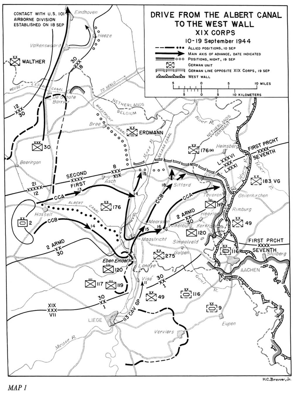 File:XIX Corps drive From the Albert Canal to the West