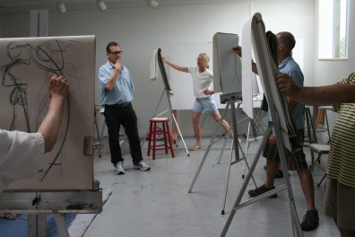 An image of a drawing class