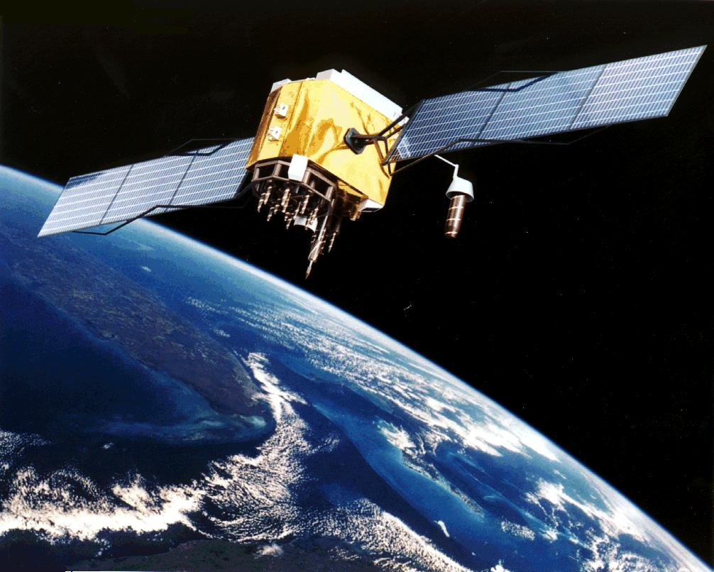 Artist Interpretation of GPS satellite, image ...