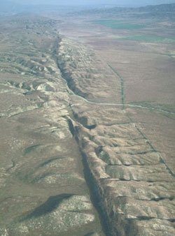 San Andreas Fault in California.