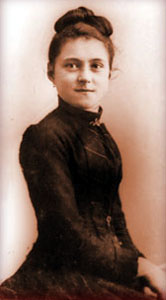 Saint Thérèse at age 15, before entering the C...