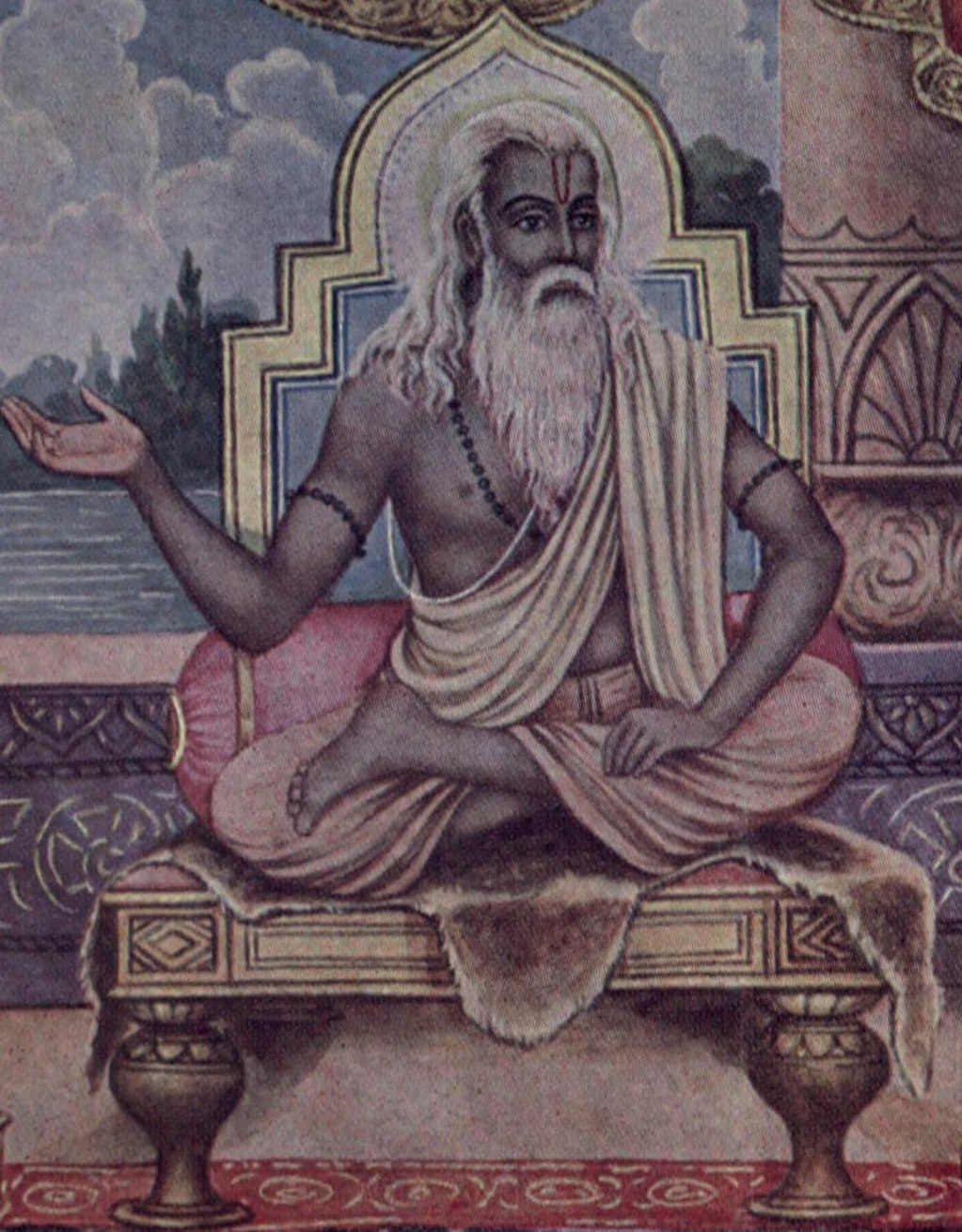 A portrayal of Vyasa, who classified the Vedas...
