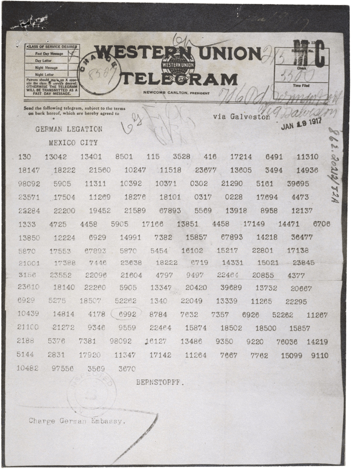 The Zimmermann Telegram (as it was sent from W...