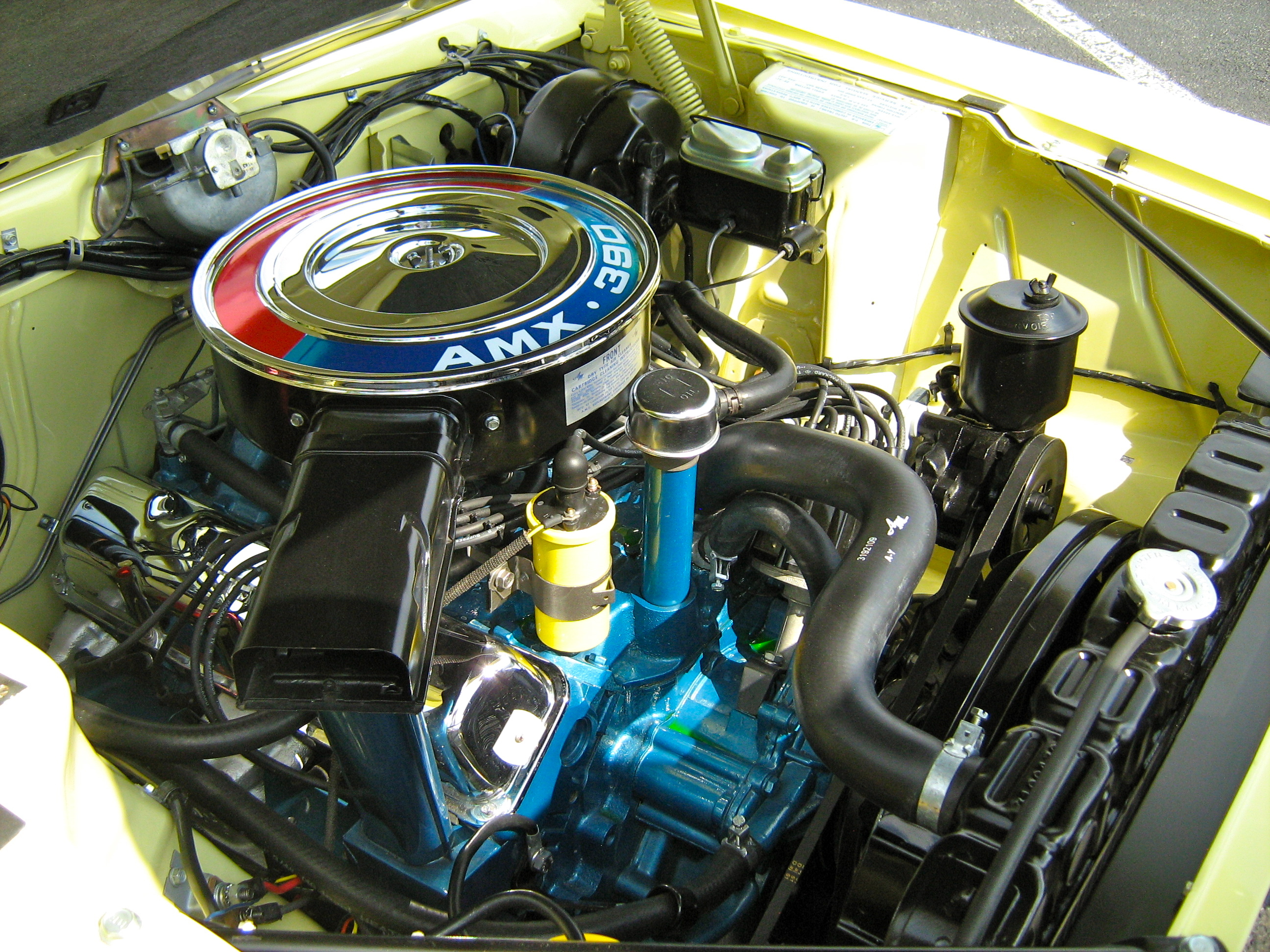 Amc Amx Wiring Harness Cadillac Color 1958 Diagram File1968 Yellow 390 Auto Mder Wikimedia