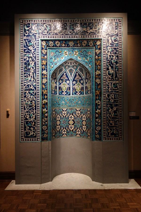 File Mihrab Prayer Niche Iran Central Asia Late 15th 16th Century Glazed Ceramic Tile
